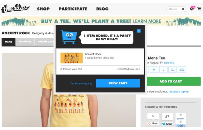 Kdo by nechtěl udělat radost nákupnímu košíku jako v e-shopu threadless.com