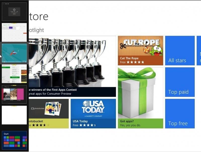 Backstrip zobrazuje proužek s náhledy všech vašich naposledy otevřených aplikací