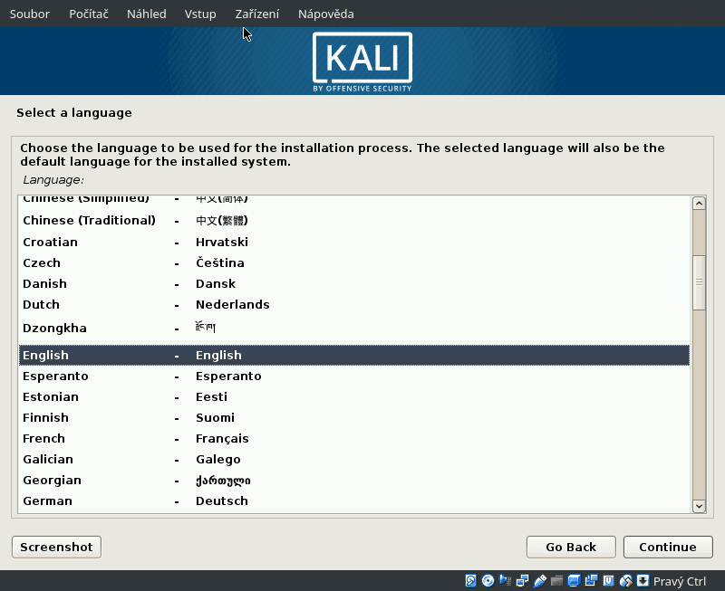 Kali Linux 2019.4 Xfce