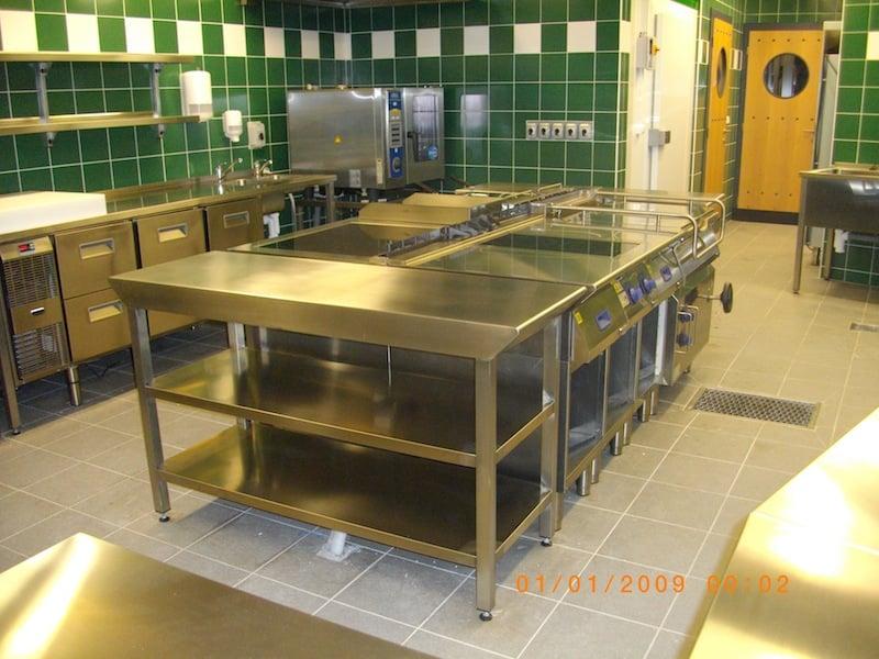 Profesionální kuchyně realizované firmami GASTROFORM a MAVA.