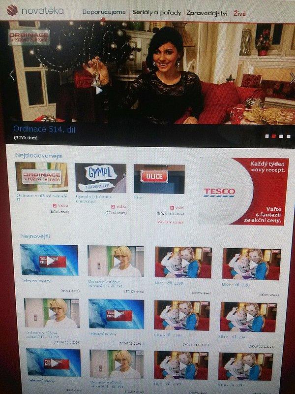 Pracovní verze homepage nové videoslužby, která doplní placené Voyo.cz. Původně byl její název zamýšlen jako Novatéka, nyní nese označení Nova Plus.