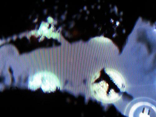 Detail čtyř diod podsvícení panelu obrazovky