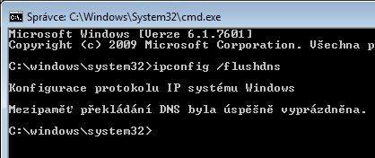 Vyprázdněním vyrovnávací paměti DNS odstraníte všechny údaje poskytnuté serverem DNS.