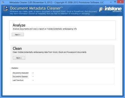 Pomocí Document Metadata Cleaner odstraníte metadata z dokumentů Microsoft Office