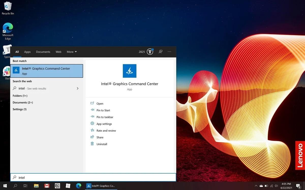 Pokud máte novější notebook s označením Intel Inside™, pak byste již měli mít aplikaci Ovládací centrum grafiky Intel nainstalovanou.