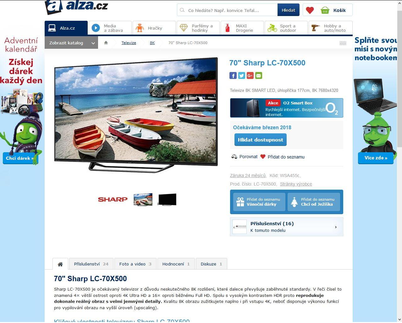 Alza, televizory Ultra HD 8K
