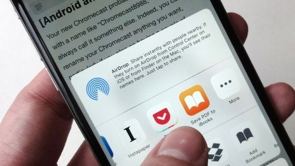 Možnost pro uložení internetové stránky do formátu PDF najdete v operačním systému iOS v rámci akčního tlačítka