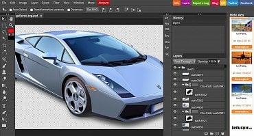 Photopea zvládá podporu vektorů a SVG