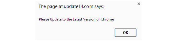Chrome fake alert