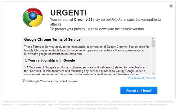 Chrome fake update