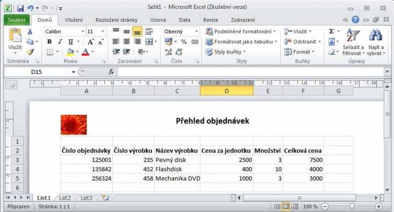 Přidání loga do dokumentu v Excelu určenému pro tisk