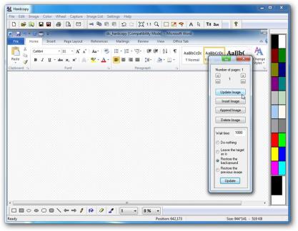 Hardcopy rozšíří tlačítka okna o další, pomocí kterého můžete snadno a rychle pořídit screenshot