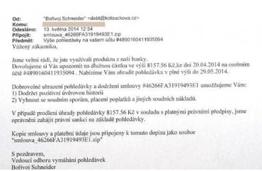 Podvodný e-mail, který má za cíl vyděsit adresáta, který následně klikne na přílohu a stáhne si do počítače škodlivý virus.