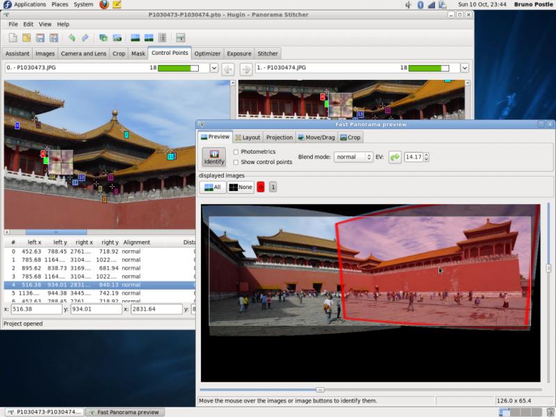 Hugin je multiplatformní aplikace pro tvorbu panoramat