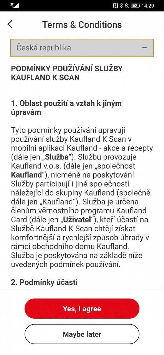 Kaufland a nakupování přes mobilní aplikaci a K-Scan