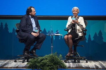 Marc Benioff a šéfka MMF Christine Lagarde