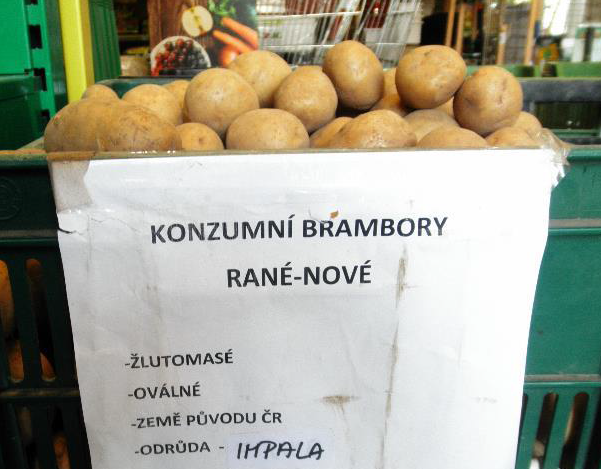 Falšované potraviny - Brambory
