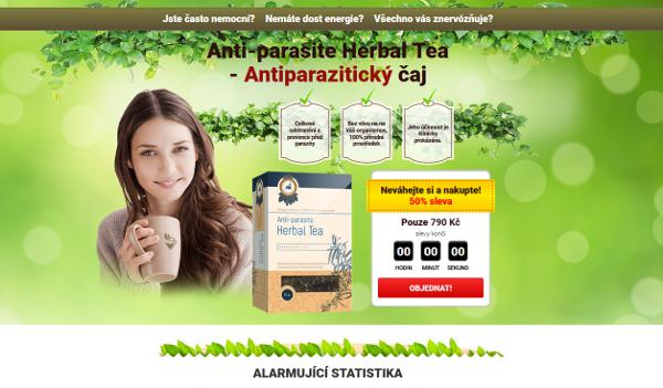 Anti-parasite Herbal Tea patří dle SZPI na seznam rizikových webových stránek a výrobků