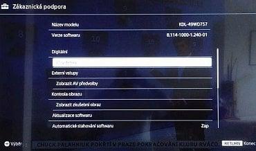 V testovaném přístroji byl firmware verze 8.114. Právě na něm záleží u certifikace ČRa DVB-T2 ověřeno.