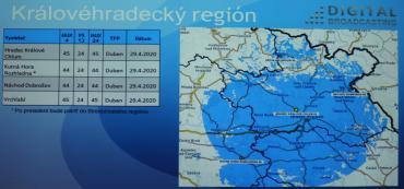 Vypnutí DVB-T vysílačů Digital Broadcasting v okolí Hradce Králové.