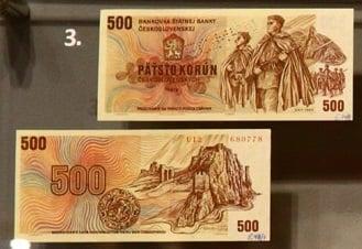 500 Kč bankovka podle návrhu Jaroslava Lukavského byla nakonec zařazena do oběhu.