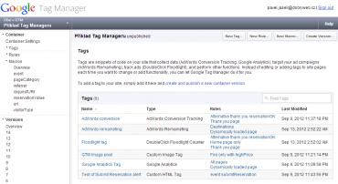 Ukázka nástroje Google Tag Manager