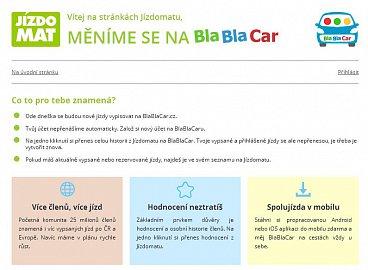 Jízdomat se změnil na BlaBlaCar