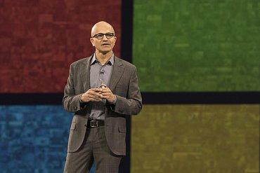 Výkonný ředitel Microsoftu Satya Nadella.