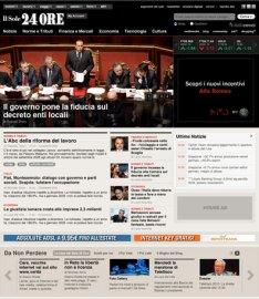 IlSole24ore.com je dalším webem z dílny Garcia Interactive. Poznáváte rukopis?
