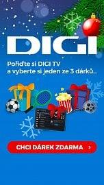 Jeden z bannerů propagujících vánoční akci Digi TV.