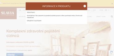 Slavia pojiš'tovna. Varování o neplatnosti cestovního pojištění pro účely víza. (16. 9. 2021)