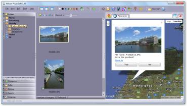 Přidání geotagu k fotografii.