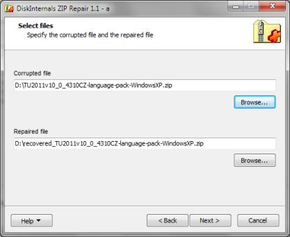 ZIP Repair získá data z poškozených archivů