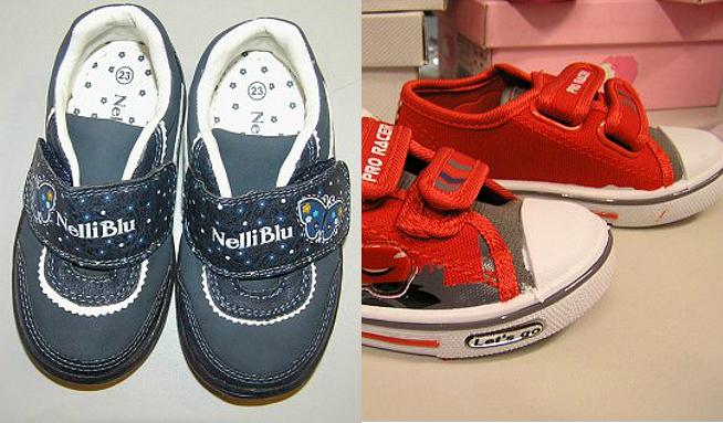 Nebezpečná obuv pro děti