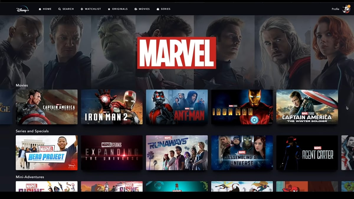 Produkce Marvel v Disney+