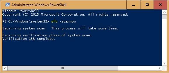 Kontrola systémových souborů ve Windows 10