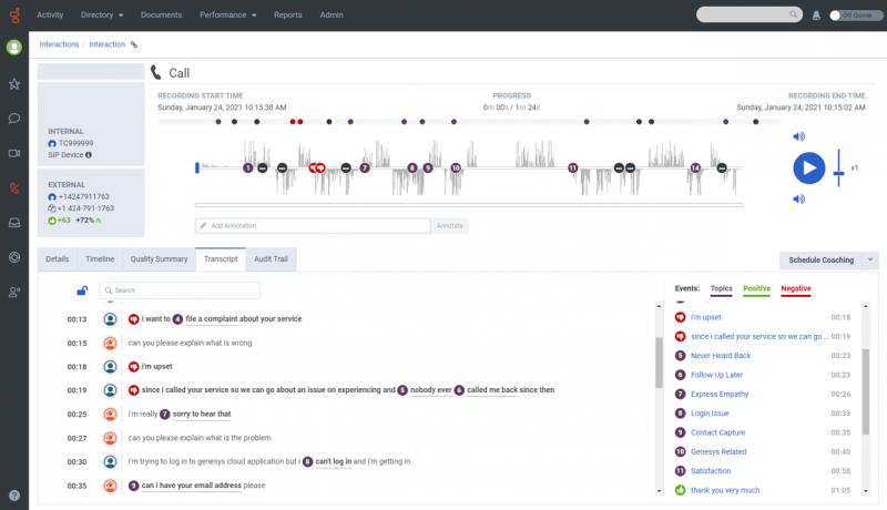 Genesys Cloud: Nahrávání hovorů a jejich analýza