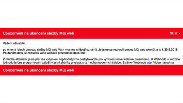 [aktualita] MujWeb.cz definitivně končí, hostované weby od října nebudou dostupné