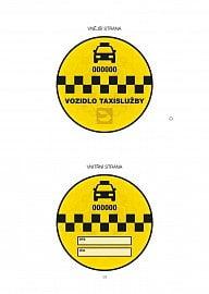 Povinná nálepka pro vozidla taxislužby od 1. července 2020.