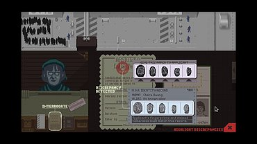 Papers, please obrázky ze hry.