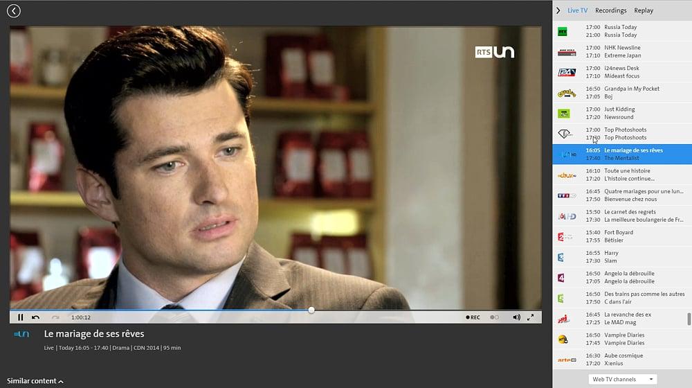 Swisscom TV Air - francouzské programy
