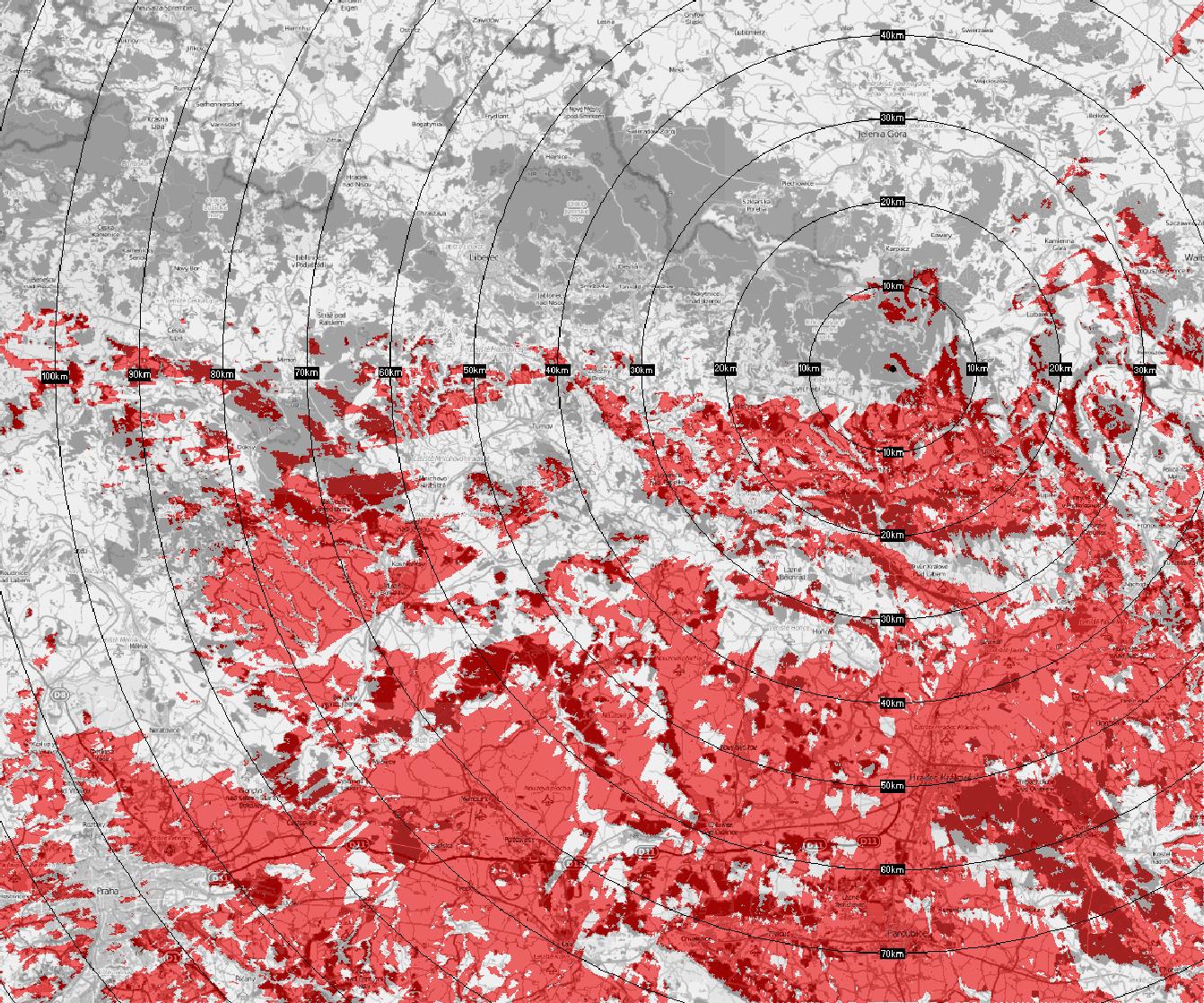 Trutnov - Černá hora - České Radiokomunikace a Progress Digital