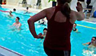 """Aqua aerobic - i ve vodě se """"zapotíte"""""""