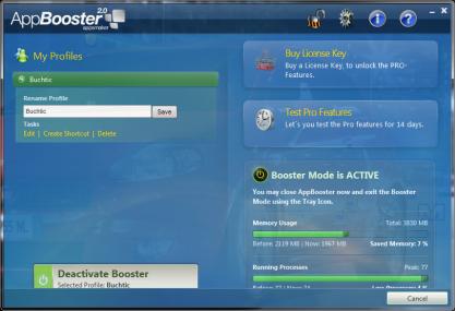 S AppBooster zvýšíte výkon počítače