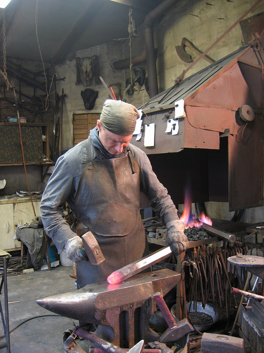 Kovář Tomáš Lebduška se specializuje na historii a samotné lidi