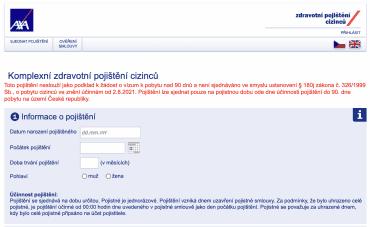 AXA ASSISTANCE CZ. Varování o neplatnosti cestovního pojištění pro účely víza. (16. 9. 2021)