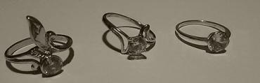 Fotografie 3 prstenů ze 4. Na fotografii prsteny 1, 2 a 3.