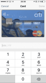 K dobití jsem použil kreditní kartu Raiffeisenbank (bývalou Citi Life).