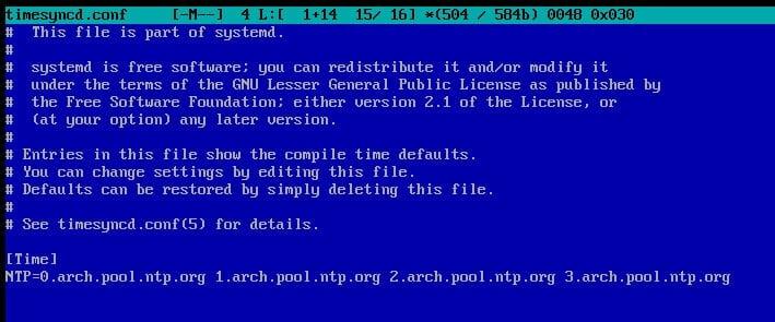 Arch: nastavení systémových parametrů