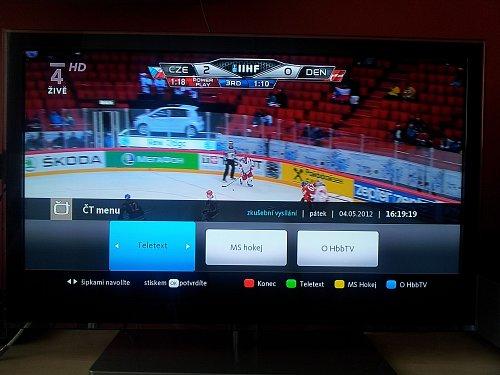 Služby HbbTV už jsou dostupné i u kanálu ČT 4 HD.